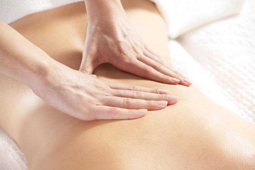 massage therapy - back massage